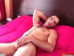 massage;arab;gay;keumgay.com;french;hunk;jerking-off;masturbation;wanking;cumshot;hand-job;dick;suitetrousers;cock;sperm,Gay sport guy getting...
