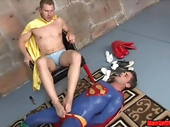 gay-superman;spandex;superman;edging;edging-handjob;gay-edging;gay-orgasm-control;beg-to-cum;humiliation;domination;superman-defeated,Muscle;Pornstar;Gay;Hunks;Handjob;Cumshot;Feet,Alex Adams;Lance Hart Evil Alex Adams...
