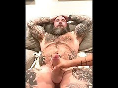 big-cock;bwc;big-dick;handjob;cum;daddy;alpha;dom;uncut;jason-collins;masculine-jason;tattoo;muscle;hairy;getting-off;stroke,Daddy;Muscle;Big Dick;Gay;Hunks;Handjob;Uncut;Cumshot;Tattooed Men Getting a handjob!