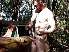 Cum Tribute (Gay);Hunk (Gay);Masturbation (Gay);Muscle (Gay);Outdoor (Gay);Gay Jerking (Gay) Jerking off in...