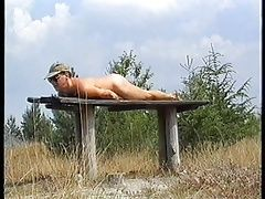 Amateur (Gay);Outdoor (Gay);Masturbation (Gay);Beach (Gay);Handjobs (Gay);Wooden;Table Wanking on a...