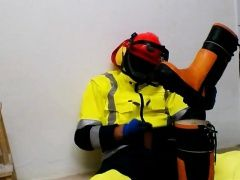 Amateur (Gay),Cum Tributes (Gay),Gays (Gay),Uniform (Gay) Orange HiVis wank