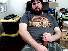 cum;jizz;nut;shooting-cum;underarmour;boxer-briefs;tshirt;sitting;computer-chair;jurassic-park;glasses;left-handed;clothed;masturbation;jerking-off;coconut-oil,Solo Male;Gay;Bear;Amateur;Handjob;Webcam;Cumshot;Chubby;Verified Amateurs Nerdy Bear Still...