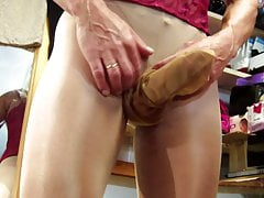 Crossdresser (Gay);Masturbation (Gay);HD Videos Stroking cock in...