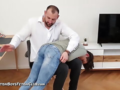 Twink (Gay);BDSM (Gay);Old+Young (Gay);Spanking (Gay);HD Videos Sergio paddled OTK