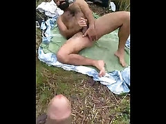 outdoor;bearded-men;thick-cock;hairy;muscle;daddy;muscle-hunk;hide-camera;camara-oculta,Daddy;Muscle;Big Dick;Group;Gay;Bear;Public;Jock They catch me...
