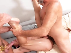 porn-stars;hairy-pits,Bareback;Daddy;Twink;Muscle;Big Dick;Group;Gay;Cumshot;Tattooed Men Four-Hand Massage