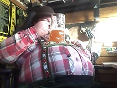 fat;pipe;bear;belly;beer;kink,Solo Male;Gay beer day clip