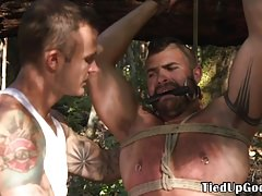 Gay Porn (Gay);BDSM (Gay);Blowjob (Gay);Muscle (Gay);Outdoor (Gay);Kink;HD Videos BSDSM sub tied to...