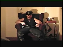 anal-insertion;dress-up,Muscle;Fetish;Solo Male;Gay;Amateur Mr Leather Dress...