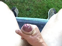 cock;oil;cum;legs;outdoors;big-cock;european,Euro;Solo Male;Big Dick;Gay;Hunks;Uncut;Cumshot;POV Oiling up and...